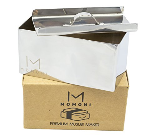 MOMONI Premium Stainless Steel Spam Musubi Maker- Non-Stick Sushi Rice (Sushi Press)