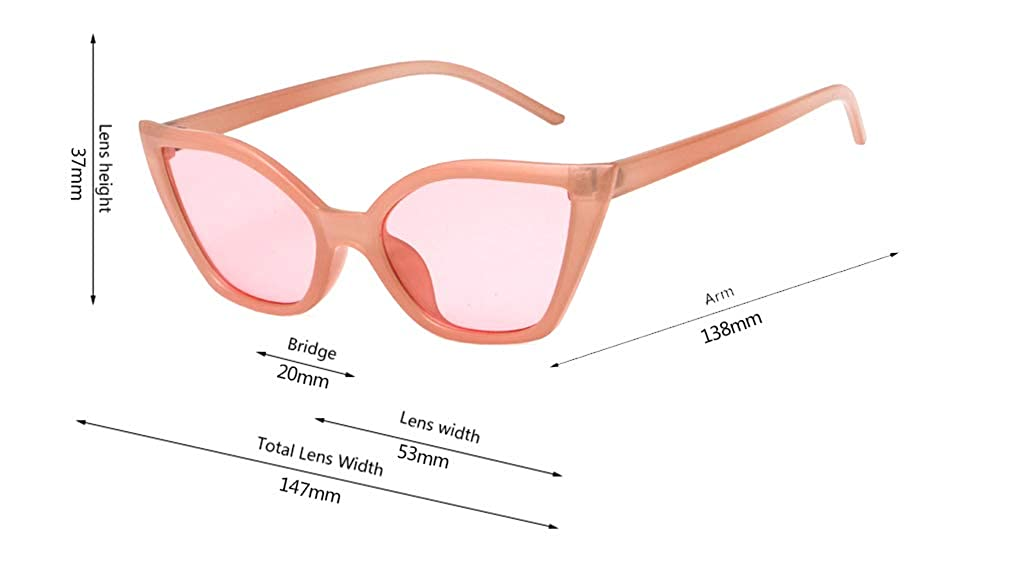 GAMT Cateye Sunglasses for Women 80s Retro Classic Trendy Stylish Sunglasses for Men