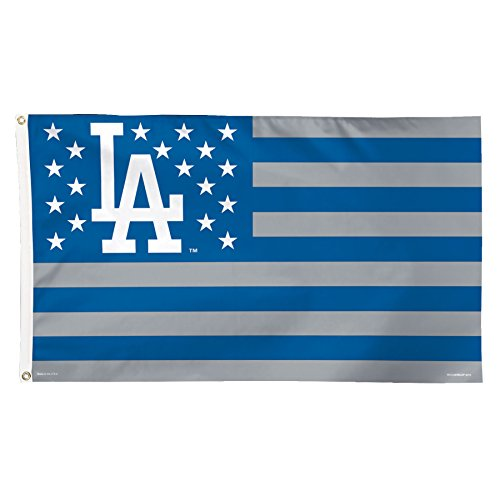 WinCraft MLB Los Angeles Dodgers Stars and Stripes Deluxe Flag, 3 x 5