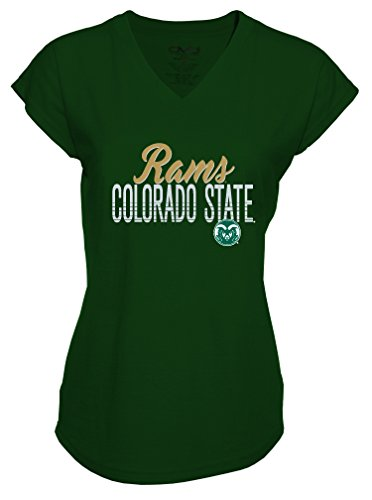 Ncaa Colorado State Rams Ladies Tri Blend V Neck T Shirt  X Large  Forest Green