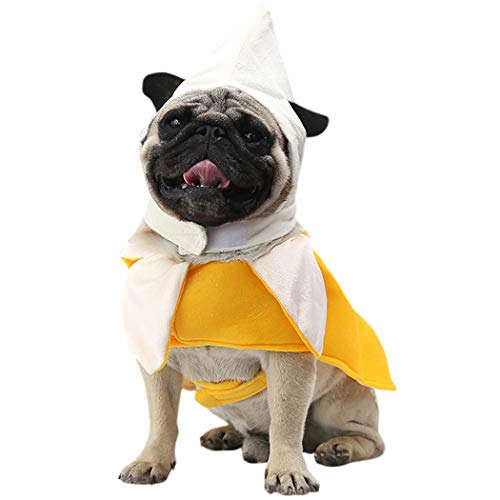 Legendog Cat Halloween Costume Hat Banana Clothes for Cat and Small Dogs]()