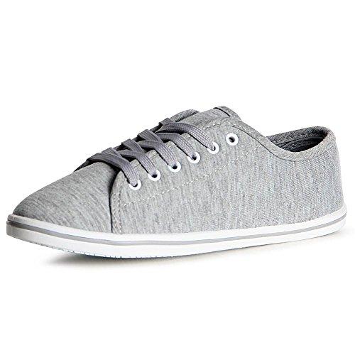 Sneaker Sport Topschuhe24 De Femmes Gris Chaussures 1wxOS1qI