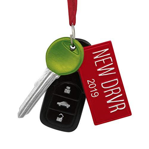 Hallmark New DRVR 2019 Driver License Plate Christmas Tree Ornament Car Key Remote (Best New Drivers 2019)
