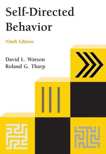 By David L. Watson - Self-Directed Behavior: 9th (nineth) Edition