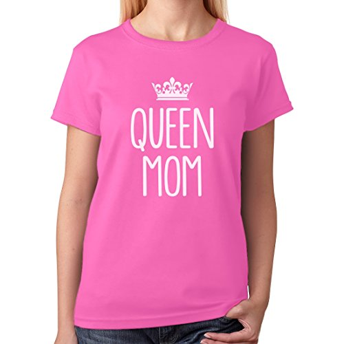 Queen Mom - Good Mothers Day Gifts For Mom, Grandma or In-Law Women T-Shirt Medium (Husband Womens Pink T-shirt)