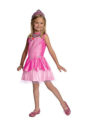 Barbie Costume For Kids (Rubie's Girls Barbie Costume Barbie in the Pink Shoes Kristyn Ballerina Dress, Medium 6-8 years)
