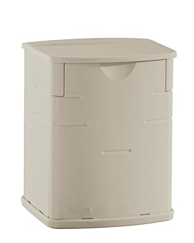 Rubbermaid FG374301SSTON Deck Box, Mini - Charcoal Storage