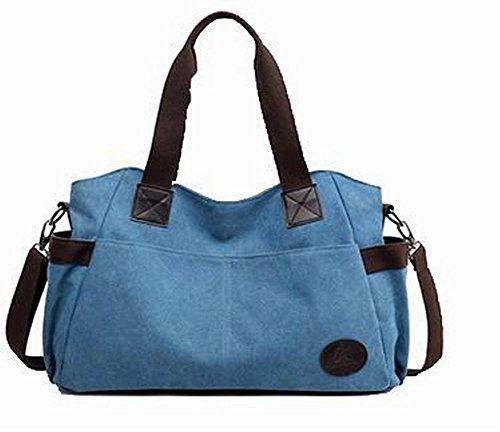 Toile bandoulière VogueZone009 Bleu Femme à Mode Sacs Zippers Décontractée TAAxPwZOIq