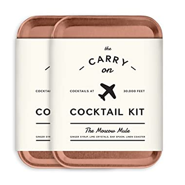 W&P MAS-CARRY-MM-2 Carry on Cocktail Kit, Moscow Mule, Travel Kit for Drinks on the Go, Craft Cocktails, TSA Approved, Pack of 2