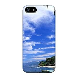 Tpu Case Cover Compatible For Iphone 5/5s/ Hot Case/ Tropical Resort