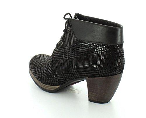 Wolky, Damen-sandalette, Juweel, 3204 Zwart Dessin Suèdew / Zwarte Kraag