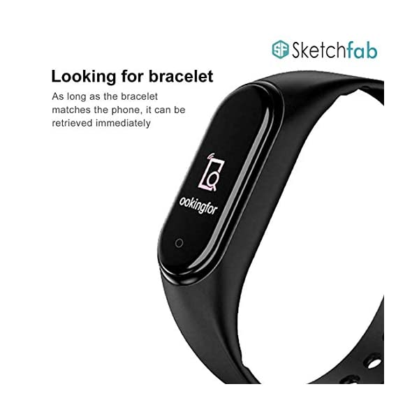 41fjJSDHcvL Sketchfab Band Smart Fitness Band Activity Tracker with OLED Display Smart Band Monitor | Smart Health for Men & Women…