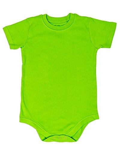 2T 3T 4T 5T 6T 7 8 10 12 Toddler & Kids Boys & Girls Bodysuit Short Sleeve Round Crew Neck - Many Colors (5T, Lime -