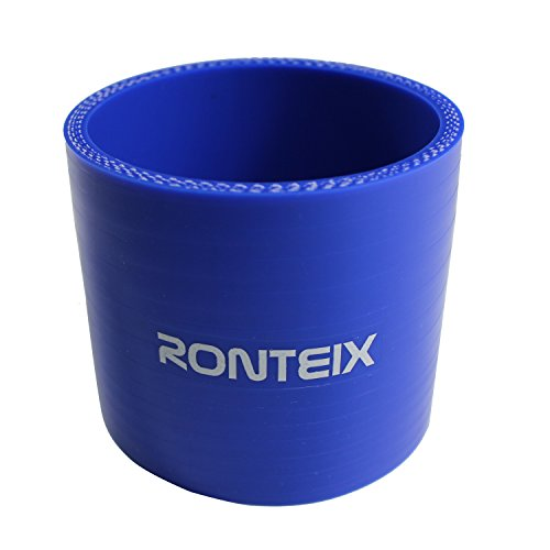 Turbo 3' Inlet (Ronteix Universal ID 3 Inch Reinforced Straight Silicone Coupler 76mm Length Radiator Hose (BLUE))