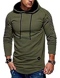 Men's Long Sleeve Pullover Warm Fleece Cotton Sports Hoodie Hooded Sweatshirt
