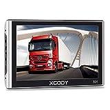 Xgody Portable Truckers GPS 826 7 Inch NAV System Navigator with Sun Shade