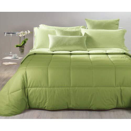 Caleffi Trapunta Singola Bicolor Verde Singola 170x265 cm - trapBicolorSViola