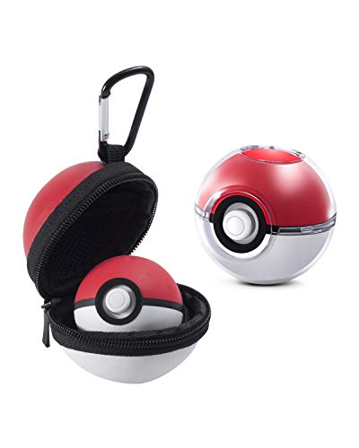 Insten Carrying Case for Nintendo Switch Pokemon Ball Plus Controller, 2-in-1 Pokemon Trainer Accessories (Crystal Clear Case + EVA Hard Carry Pouch) compatible with Pokemon Lets Go Pikachu Eevee Game