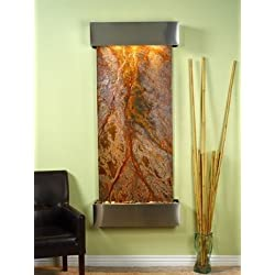 Adagio Inspiration Falls Wall Fountain Rainforest Brown Marble Stainless Steel - IFS2006