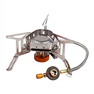 Sagafly Portable Camping Gas Stove Mini, 3500W Windproof Backpacking Stove with Piezo Ignition Outdoor Cooker Burner for…