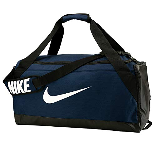 NIKE Brasilia Training Duffel Bag, Midnight Navy/Black/White, Medium