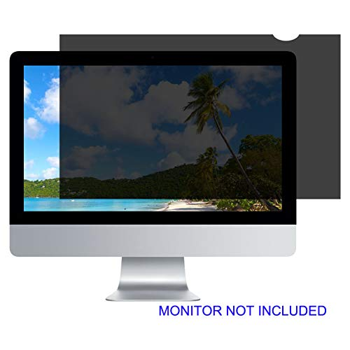 27''W Inch Privacy Screen Filter for Desktop Computer Monitor - Anti-Glare, Blocks 96% UV,Anti-Scratch - Matte or Gloss Finish Privacy Filter Protector - 16:9 (TM27.0W9) 23 9/16 x 13 1/4 inches ()