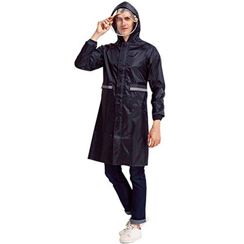 Blue Blue Blue Taped Uomini all'aperto Seams Raincoat Raincoat Raincoat Raincoat Rainwear Zhuhaitf Attività Cappuccio Donne Riutilizzabile Cape Rain per Impermeabili Navy EnWUZWOTIq