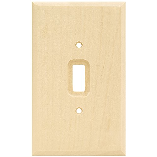 Franklin Brass W10393-UN-C Square Single Toggle Switch Wall Plate/Switch Plate/Cover, Unfinished Wood