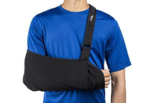 Pouch Sling Reversible - Think Ergo Arm Sling Sport - Lightweight, Breathable, Ergonomically Designed Medical Sling for Broken & Fractured Bones - Adjustable Arm, Shoulder & Rotator Cuff Support (XL Adult)