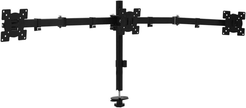 Vidaxl Monitor Tischhalterung Für 3 Monitore Neigungsfunktion Schwenkfunktion Drehfunktion Monitorhalterung Halterung Halter Bildschirm Ständer 13 23 Küche Haushalt