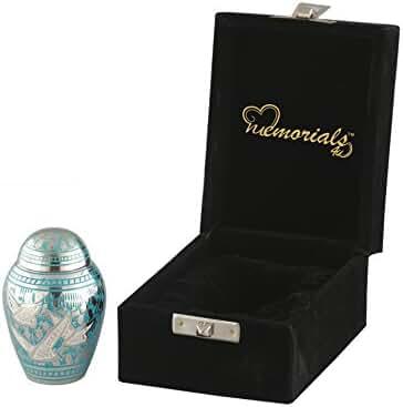 Going Home Memorial Keepsake Urn with Fancy Box - Wings of Freedom Keepsake Urn - Token Urns - Keepsake Cremation Urn - Handcrafted Mini Urn for Ashes