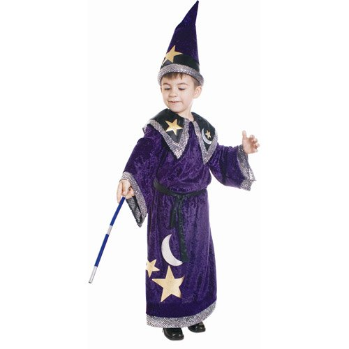 Magic Wizard Costume - Small 4-6 (Wizard Boy Costume)