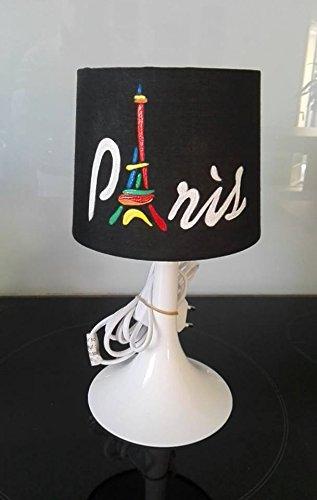 Chevet Lampe Peint Ou Paris Poser Main À Theme De cF1JlK