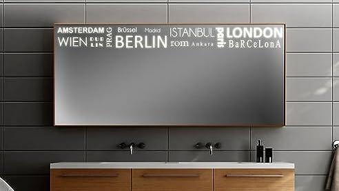 Badspiegel Mit Beleuchtung Städtemix F308L1: Design Spiegel Für