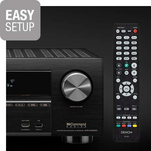 Denon AVR-X3500H Receiver (2018 Model) - 8 HDMI Input/3 Output & Enhanced Audio Return Channel (eARC), HDR10, 3D Video Support | Super High Power, 7.2 Channel 4K Ultra HD Video | Dolby Surround Sound by Denon (Image #3)