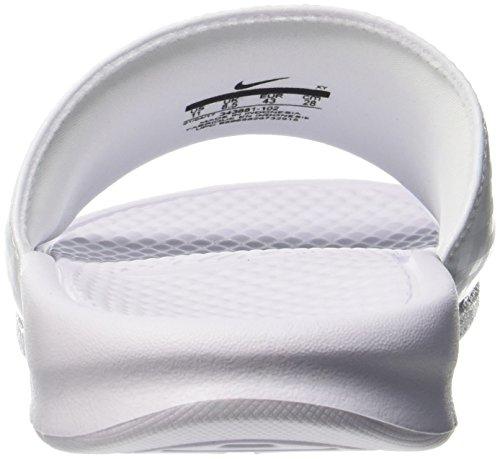 Benassi 102 Slide Sandali Silver Bianco Donna Atletica Nike white Jdi Da metallic Pw1ZSqdH