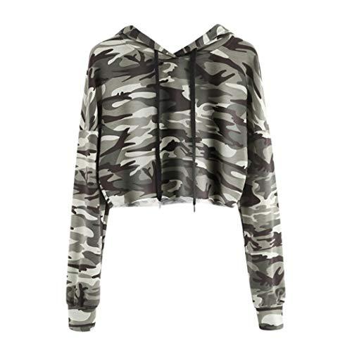 (Sttech1 Hoodie Long Sleeve Sweatshirts for Women,Camouflage Hoodies Pullover Tops Drawstring Sweatshirt)