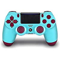 YEGOOD Wireless Controller for PS4, Remote Game Controller for Playstation 4 Joystick with Charging Cable (Berry Blue)