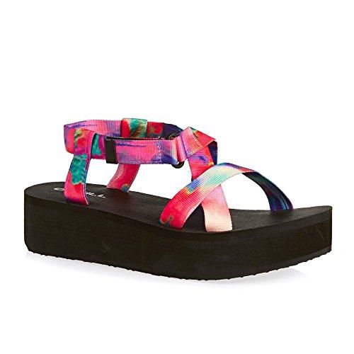 O NEILL Velcro Wedge Sandal pink