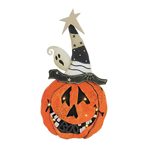 Northlight Battery Operated Pumpkin Halloween Decoration, 13'', Black by Northlight