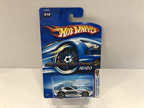 Ford Shelby GR-1 Concept Chrome (sliver rims) Faster than Ever Wheels 2005 First Editions Hot Wheels diecast car No. 016 ()