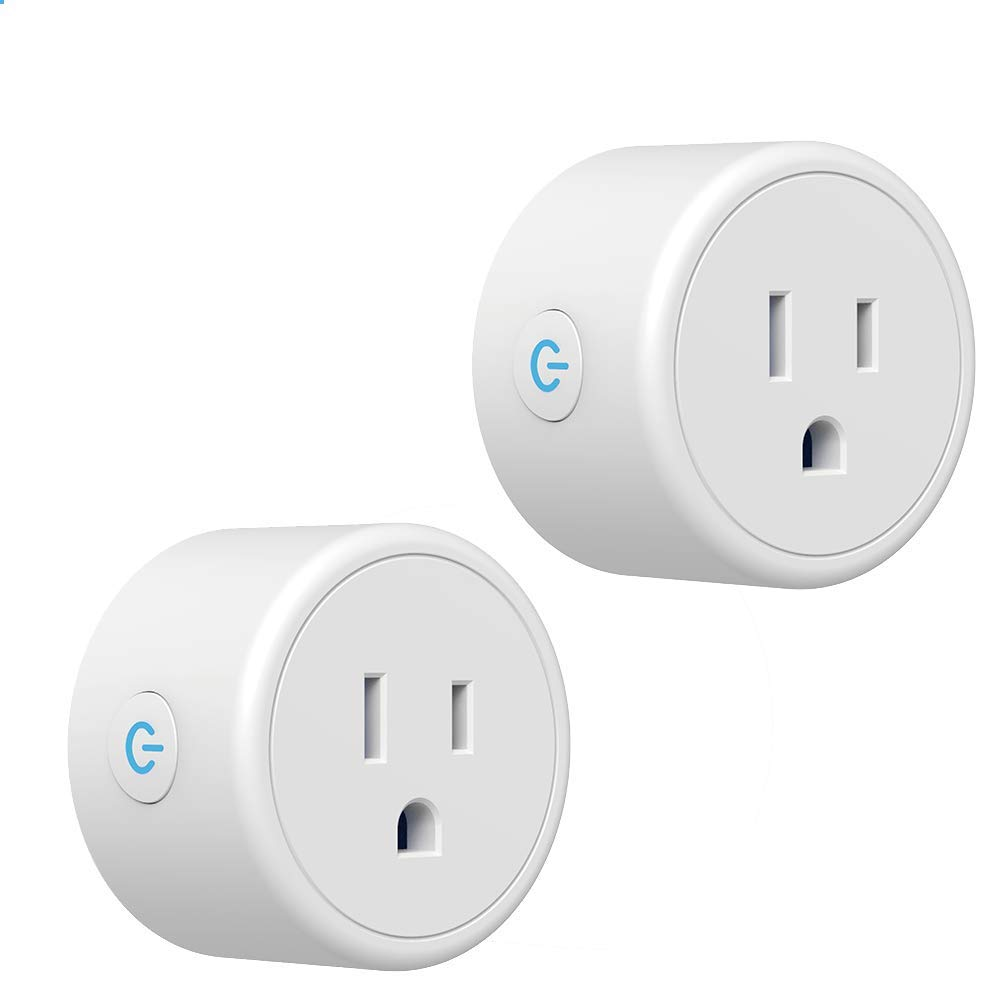 Smart Plug, WiFi Mini Outlet Works with Alexa, Google Home & IFTTT, Smart Life(No Hub Required),Remote Control Your Home Appliances from Anywhere,ETL Certified,Only Supports 2.4GHz Network(2 Pack)