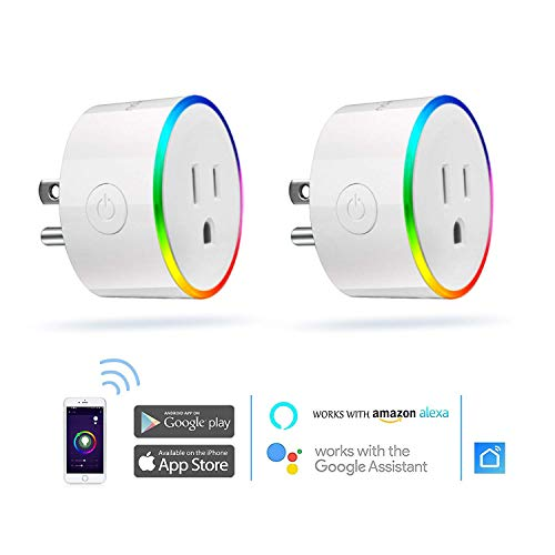 Smart Plug, Novostella Mini Wi-Fi Outlet with Nightlight Works with Amazon Alexa/Google Assistant/IFTTT for Android and iPhone, No Hub Required - 2 Pack by NOVOSTELLA