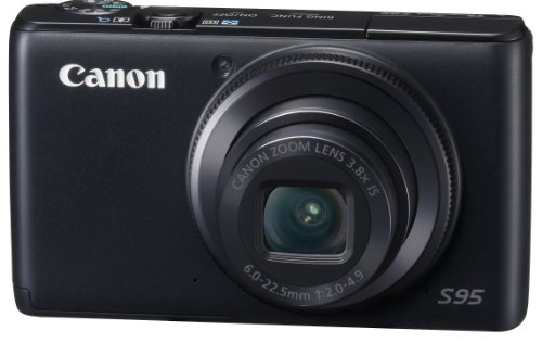 Canon Digital Camera Powershot S95 PSS95 10MPCCD 3.8x Optical Zoom Wide angle28mm 3.0-inch Display F2.0 - International Version (Canon S95 Camera)