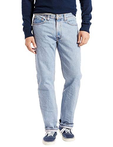 Dark Jeans Blue Fit - Levi's Men's 505 Regular Fit Jean,Light Stonewash,44x30