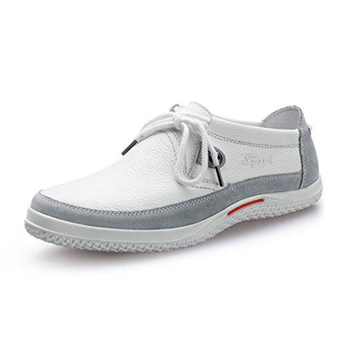 消化器段階締め切り[QIFENGDIANZI]レースアップシューズ メンズ 靴 カジュアルシューズ ウォーキングシューズ コンフォート 屈曲性抜群 衝撃吸収 通勤 発表式 黒 ブルー 白