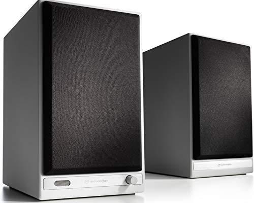 Audioengine HD6 150W draadloze actieve boekenplankluidsprekers | Ingebouwde USB 24-bit DAC & analoge versterker | aptX…