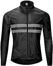 Men's Cycling Jacket Windproof Bike Jersey Sportswear Long Sleeve - B