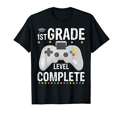 1st Grade Level Complete Video Gamer T-Shirt Graduation Gift