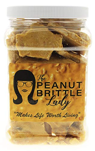Top Shelf Handmade Gourmet Peanut Brittle Candy, Small Batch, Homemade; Size: Happy Gal (1/2 Gallon)